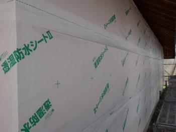 羽入の家リノベーション 外側の断熱材を施工しました